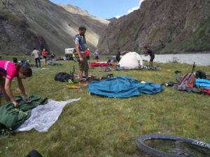 Opbygning af lejr